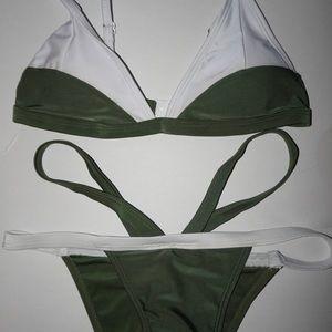 Other - Green and white bikini set